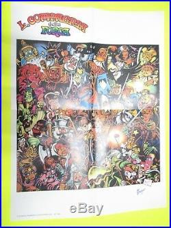 Poster Manifesto La Compagnia Della Forca Gadget 1977/78 Autografo Magnus Corno