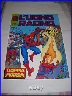 Poster Manifesto Locandina Del N. 234 L' Uomo Ragno Marvel Corno Gadget 1979