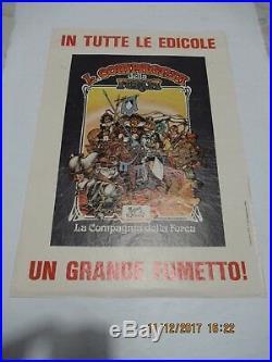 Poster Manifesto Locandina La Compagnia Della Forca # 1 Gadget 1976 Magnus Corno