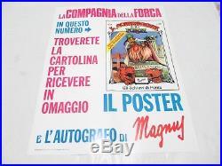 Poster Manifesto Locandina La Compagnia Della Forca 13 Gadget 1976 Magnus Corno