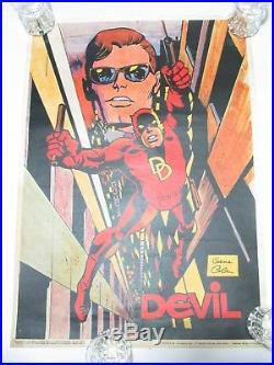 Poster Manifesto Thor Uomo Ragno Fantastici Quattro Devil Corno Gadget 1975/76