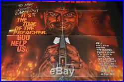 Preacher In Store Promo Poster Signed by Ennis & Dillon DC (1995) ITB WH