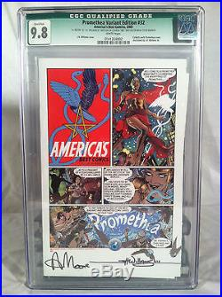 Promethea 32 Magical Edition Signed by Alan Moore and JH Williams III withPosters