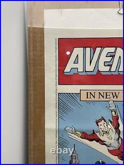 RARE AUTHENTIC 1985 MARVEL COMIC BOOK SHOP PROMO AVENGERS ASSEMBLE POSTER 34x22