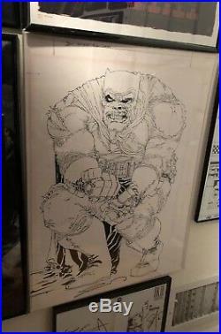 RARE Frank Miller Signed Custom 18x24 Batman Poster Dark Knight Returns with COA