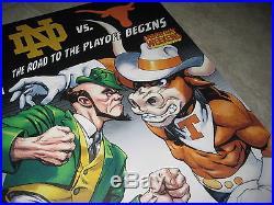 RARE MARVEL COMIC Cover ESPN 2016 College Football Texas Longhorns Notre Dame