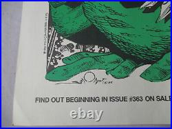 RARE! Original 1985 THOR FROG 17x22 Comic Store Promotional POSTER WALT SIMONSON