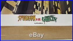 RARE RE-MARKED LITHOGRAPH Spider-Man vs. Green Goblin Signed & Sketched