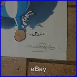 RARE SERIGRAPHIE LITHOGRAPHIE asterix la rose et le glaive signé par UDERZO