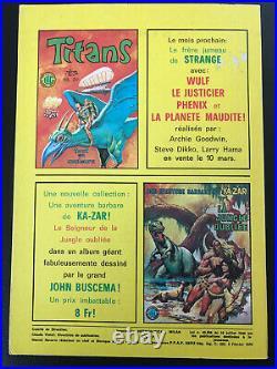 RARE STRANGE N° 74 poster Attaché Encarté E. O LUG 1976 TBE