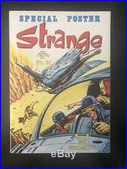 RARE Superbe STRANGE N° 63 poster Attaché Encarté E. O LUG 1975 TTBE