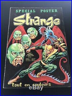 RARE Superbe STRANGE N° 67 poster Attaché Encarté E. O LUG 1975 TTBE