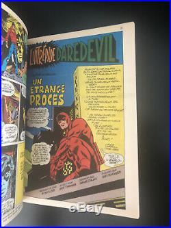 RARE Superbe STRANGE N° 70 poster Attaché Encarté E. O LUG 1975 TTBE