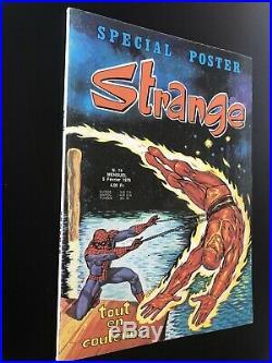 RARE Superbe STRANGE N° 74 poster Attaché Encarté E. O LUG 1976 TTBE
