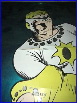 RARE Vintage 1972 Flashbacks Inc FLASH GORDON Comic Book MYLAR Foil Poster