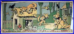 Rabier Affiche sérigraphiée 1910 grand format Les aventures de Renard n°1 TBE