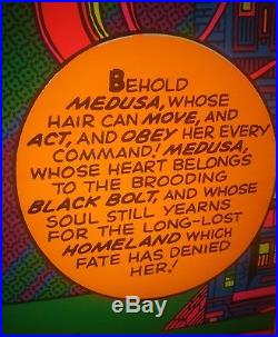 Rare 1971 Marvel MAGNIFICENT MADUSA THIRD EYE Black light poster #4013 Minty