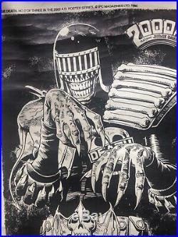 Rare 1980 Judge Death poster Brian Bolland 2000ad Forbidden Planet Judge Dredd