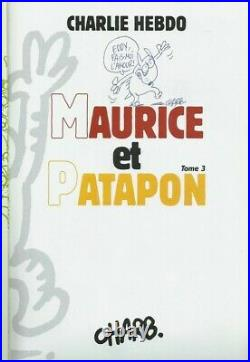 Rare Eo Charb + 2 Dessins Originaux + Poster + Autocollants Maurice & Patapon 3