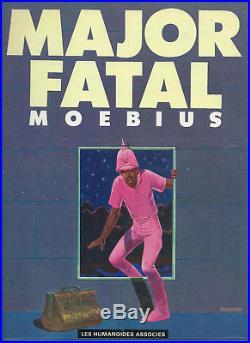 Rare Eo Jean Giraud / Moebius Major Fatal + Poster Les Merveilles De L'univers