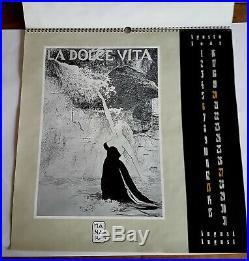 Rare Eo Milo Manara Calendario Dedicato A Federico Fellini 1995 (calendrier)