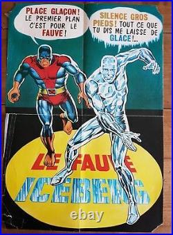 Rare Eo Strange N° 60 Décembre 1974 + Poster De Iceberg & Le Fauve