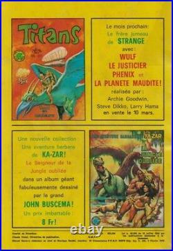 Rare Eo Strange N° 74 Février 1976 + Poster De Captain Marvel