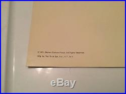 Rare Marvel Third Eye Blacklight Greeting Card From 1971 Silver Surfer