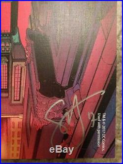 Rare New 52 Batman Lithograph signed by Greg Capullo and Scott Snyder