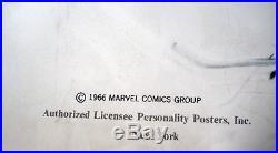 Rare Spiderman Marvel Comics 1966 Vintage Original Huge Pin Up Poster