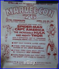 Rare Stan Lee Marvel Con 1976 Authentic Poster Great Condition Marvelmania