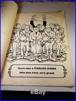 Rare Vtg, The Fearless Leader of UZ, Political Comic Poster Book 1972, Nixon V. G. C