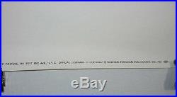 Rare original 1966 Batman DC Detective Comics silver age 40 x 27 poster 11960's