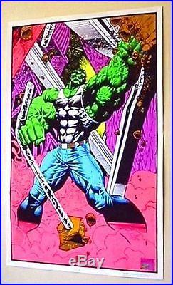 Rare original 1990's Marvel Comics 35x23 Hulk blacklight poster 1 1996/Avengers