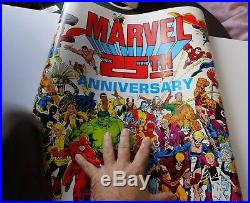 Rare vintage Unused original 1986 MARVEL 25TH ANNIVERSARY POSTER marvelmania