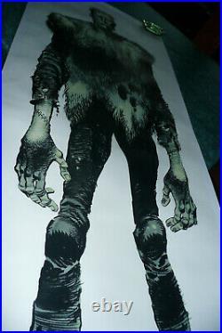 Rarissime poster Frankenstein de Jack DAVIS original neuf