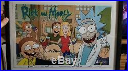 Rick And Morty 18 x 12 poster SIGNED by Justin Roiland and Dan Harmon