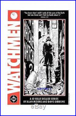Rorschach Watchmen Original Promo Poster Art Print Alan Moore 1986 Scum Of Earth