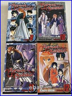 Rurouni Kenshin English Manga Complete Series Volumes 1-28 EUC With poster