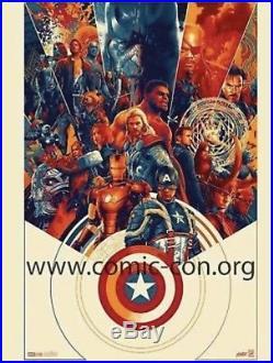 SDCC 2018 Comic Con Mondo Marvel Avengers Exclusive Print Signed by Matt Taylor