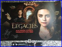 SDCC 2018 WB Exclusive Legacies Signed Poster Vampire Diaries The Originals