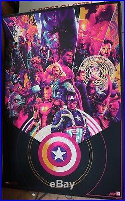 SDCC Comic Con 2018 Mondo Marvel Avengers MCU 10 Year Variant Poster Matt Taylor