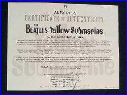SIGNED Alex Ross Beatles Yellow Submarine Prints with Exclusive 8th Print + PHOTO