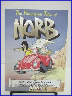 SIGNED NORB PROMO KIT Daniel Pinkwater Comics Anthology RARE Auth Mini Posters