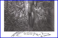 SIGNED Ricou Browning & Alex Ross Sideshow Art Print Creature From Black Lagoon