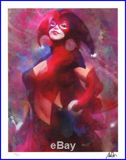 SIGNED Stanley Artgerm Lau Batman Gotham Sirens Art Print Harley Quinn #110/225
