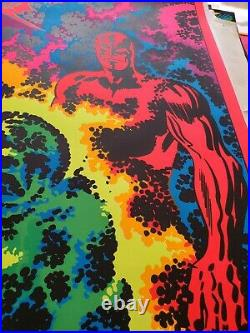 SILVER SURFER I'M CHANGING MARVEL THIRD EYE Black light poster TE4014 JACK KIRBY