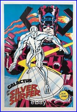 SILVER SURFER Marvelmania Poster JACK KIRBY Vintage MARVEL 1970 Very Rare