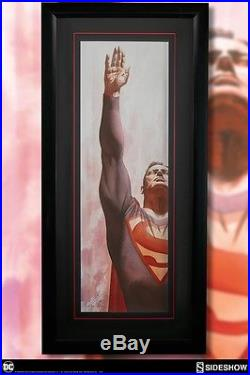 SOLD OUT Sideshow Exclusive SIGNED Alex Ross Superman Immortal FRAMED Art Print