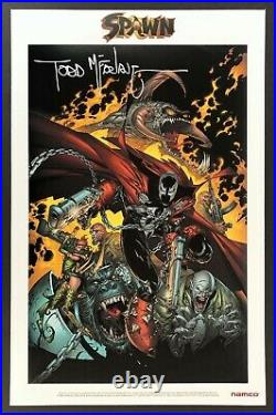SPAWN Poster SIGNED AUTOGRAPHED BY TODD MCFARLANE from E3 2003 for Soul Calibur